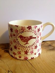 Emma Bridgewater Studio Special Pink Sponged Bird Baby Mug for Open Day 2010 Pottery Cafe, Emma Bridgewater Pottery, Emma Love, English Pottery, Bowls, Love You Dad, Opening Day, Red And White, White Style