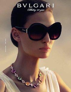 Bianca Balti for Bvlgari eyewear  Repinned by www.fashion.net