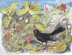 """""""Pick Your Own"""" by Mark Hearld  Lithograph - approx. image size 370mm x 490mm. 195.00 lbs."""