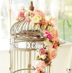 Gaiolas na decoração de casamento