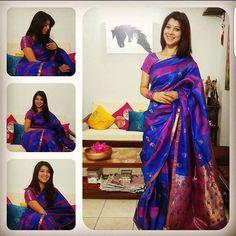 #APITConnect - Saree makes me feel beautiful from within! Mazya lagnatlya saadi cha muhurta finally lagla! #cousins #wedding #saree3 #100sareepact #ethnics #style #silk #minimum #accessories #nomakeup #kajal #lipstick & #readytogo by Tejaswini Pandit http://bit.ly/1mkjEG1