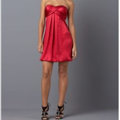 Xs cape strapless red dress Strapless xscape dress  100% polyester Size six  Only worn once Please ask for additional pictures, measurements, or ask questions before purchase No trades or other apps. Ships next business day Five star rating Bundle for discount Xscape Dresses Strapless
