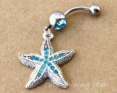 Starfish Belly Button Ring