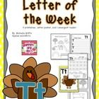 """This letter of the week pack is designed to help you teach the """"letter T."""" Included are worksheets and printables to focus on the """"letter T"""" all we..."""