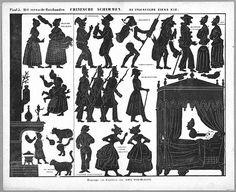 Le malade imaginaire L`embarras du ménage Séraphin planche d`ombres théâtre d`ombres ombres chinoises silhouettes marionnettes