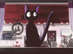 Kiki's Delivery Service Jiji!! I love Jiji soooo much! BUT TBH I THOUGHT HE WAS A GIRL FOR THE LONGEST TIME