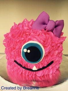 Monster Smash Cakes, Monster Inc Cakes, Monster Birthday Cakes, Little Monster Birthday, Monster 1st Birthdays, Monster Birthday Parties, Birthday Cake Girls, 2nd Birthday Parties, Birthday Ideas