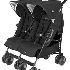 Double umbrella stroller- Maclaren Twin Techno Black On Black Frame Double Stroller For Twins, Best Double Stroller, Twin Strollers, Double Strollers, Techno, Travel Stroller, Travel Cot, Jogging Stroller, Umbrella Stroller