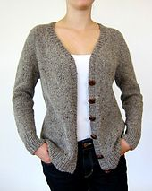 Ravelry: Antonia/Antonio pattern by Julie Weisenberger - simple & elegant grey knitted tailored top down seamless cardigan Knit Cardigan Pattern, Sweater Knitting Patterns, Knit Patterns, Baby Knitting, Baby Cardigan, Knit Crochet, Free Crochet, Crochet Pattern, Sweaters For Women