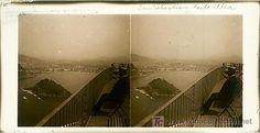 SAN SEBASTIAN DESDE ULIA - AÑOS 1910-20 - CRISTAL POSITIVO (TAMAÑO GRANDE) (Fotografía Antigua - Estereoscópicas)