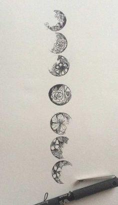 tattoo moon fase - Szukaj w Google