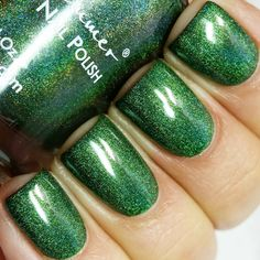 Keep Palm And Carry On Green Holographic Nail Polish