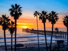 San Clemente Pier at Sunset, California