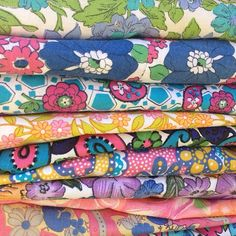 gorgeous vintage fabrics from Donna Flower