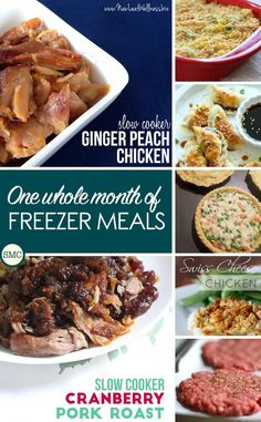 Wow - one whole month's worth of freezer friendly recipes! Click on the picture to see them all.