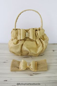 Gold Baby Purse, Toddler Gold Purse, Gold Girl's Handbag, Gold Baby handbag…