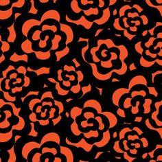 Blizzard Fleece Fabric-Orange Floral