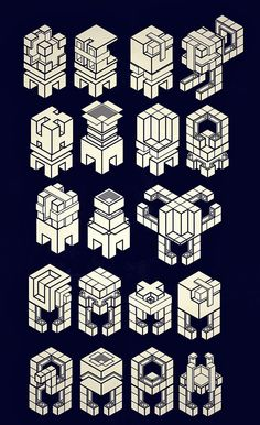 Isometric tiles by George Bordeanu