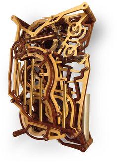 Kinestrata - A Mechanical Wooden Marble Machine
