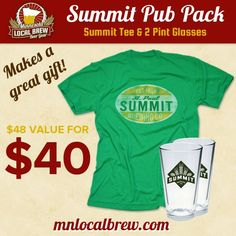 Our best selling Summit Brewing Company tee plus two pint glasses for a great price? Don't mind if we do. Introducing the Pub Pack: