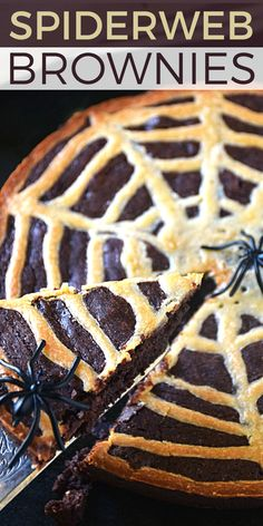Spiderweb Brownies |