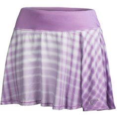 Adorable and stylish, the Athletic DNA Girls' Racquet Circle Tennis Skort in Lilac is perfect for all your mini-me's athletic endeavors! This tennis bottom comes featuring a soft  elastic waistband with a secure and comfortable fit and a full circle skirt with a dynamic geometric print. This skirt is sure to become her new favorite for on court.