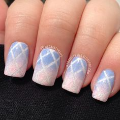 Dainty Nails: Ombre Net Nails