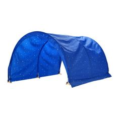 $30 Ikea Kura bed tent. Made to work specifically with the kids bunk-bed. Great for making sure Alorah doesn't roll out and resists the urge to jump from the top bunk.
