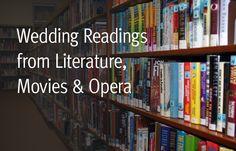 Wedding Readings from Literature, Movies, Opera (non-religious)