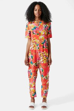 TOPSHOP | Boutique Flower Print Jumpsuit | Nordstrom Rack