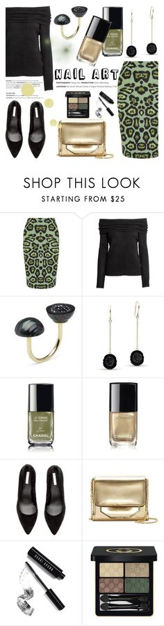 """Green With Envy: Wintery Nail Polish"" by littlehjewelry ❤ liked on Polyvore featuring beauty, Givenchy, Chanel, Louise et Cie, Bobbi Brown Cosmetics, Gucci, contestentry, nailedit, pearljewelry and littlehjewelry"