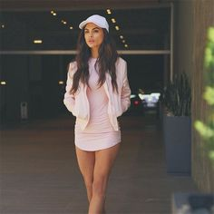 Solid Scoop Long Sleeve Bodycon Slim Short Dress