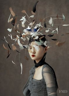 """cool """"The Peking Opera"""" by Wangy Xin Yu for Harper's Bazaar China Ma. """"The Peking Opera"""" by Wangy Xin Yu for Harper's Bazaar China May Hat by Harvy Santos """"Birdy"""" collection🕊 Have a nice. Image Fashion, Fashion Art, Editorial Fashion, China Fashion, Fashion Details, Fashion News, Fashion Outfits, Harpers Bazaar, Denim Jacket Diy"""