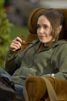Ellen Page. Your quirky humor would probably be a lot less funny coming out of something less hot. But your body is hot, and your wit is...off but sharp.Oh and your movies are pretty good in their own way, my girl said so.