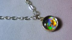 hologram charm necklace by RyleeSierraCreations on Etsy