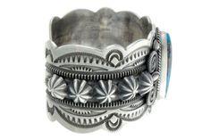 Delbert Gordon Kingman Turquoise Sterling Silver Cuff Navajo Signed | eBay