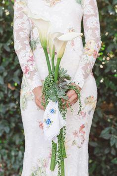 calla lily bouquet - photo by Anna Delores Photography http://ruffledblog.com/santa-barbara-estate-wedding