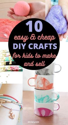 10 Easy Crafts For Kids To Make And Sell For Extra Money. I'm so IN LOVE with these AWESOME ideas for DIY projects and handmade items I can make from home and sell at craft fairs or on Etsy. I can make great money from home even as a teen! These best selling crafts will sell out in a minute! Definitely PINNING this for later! #craftsforkids #craftsideas #kidscraft #extramoney Diy Projects You Can Sell, Diy Money Making Crafts, Diy Crafts To Sell On Etsy, Diy Projects For Kids, Crafts To Make And Sell, Easy Crafts For Kids, Easy Diy Crafts, Summer Crafts, Mason Jar Crafts