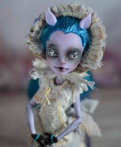 Monster High Freaky Fusion Avea Trotter Doll OOAK repaint by Madam Bu