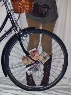 card decks with clothes pins on bike spokes for noise ~ way cool.