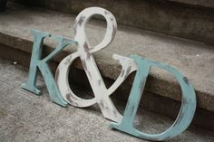 Wooden Initials - Can change color