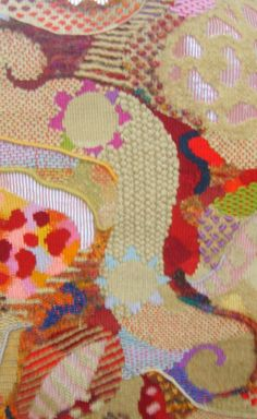 Detail from a textured tapestry by William Jeffries