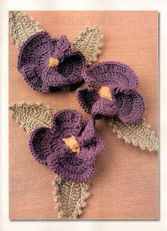 ✿⊱╮ Flor em Crochê -   / ✿⊱╮ Flower Crochet -