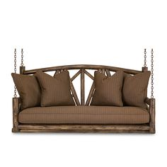 Rustic porch swings by La Lune Collection are designer quality, hand-crafted furniture made in the USA.