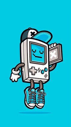 Funny Pop Art cartoon wallpaper for iPhones! Graffiti Art, Doodle Art, Illustration Book, Vexx Art, Dessin Old School, Retro Game, Retro 13, Graffiti Characters, Retro Videos
