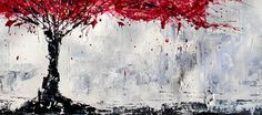 made to order modern Abstract Textured, palette knife artwork by artist Baron Visi, -Size: 48x24x1.5 -Medium: oils, acrylics on canvas -Dominant Colours: prussian blue, red, grey -Signed and dated on the back by the artist The sides of the canvas are painted. The canvas can be hanged as is -no staples on its sides. www.baronvisi.com This listing is for a similar to the one pictured, MADE TO ORDER painting . REMEMBER: NO ARTWORK IS EXACTLY THE SAME AS ANY OTHER. Although natural differenc...