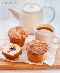 supergolden bakes: Is is a duffin or is it a muffnat? Jam doughnut muffins