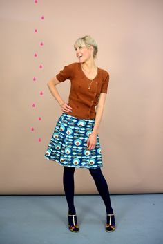 "Pleated Skirts – LIEBLINGSROCK "" REIKJA BLUE"" – a unique product by Bonnie-and-Buttermilk on DaWanda"
