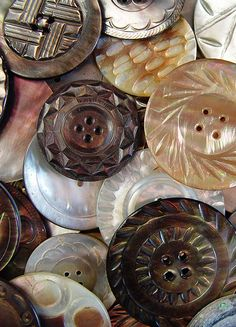 Carved vintage buttons