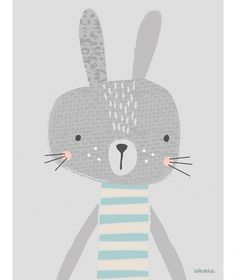 Tableau Max by Paper & Cloth x 40 cm) : Lilipinso Pattern Illustration, Graphic Illustration, Rabbit Illustration, Wallpaper Tumblrs, Illustration Mignonne, Art Mignon, Kids Prints, Nursery Art, Nursery Prints